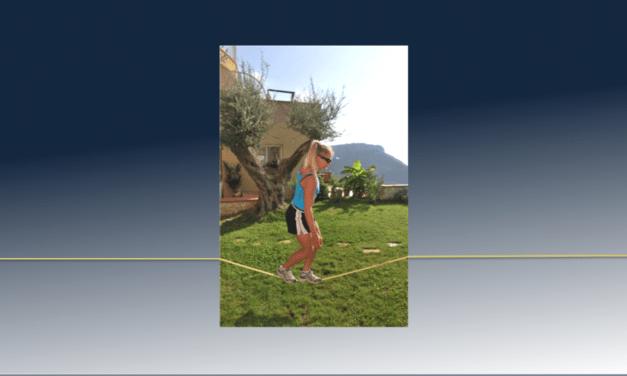 Balance training for skiing